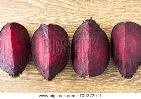 Slices Of Roasted Beet Top View