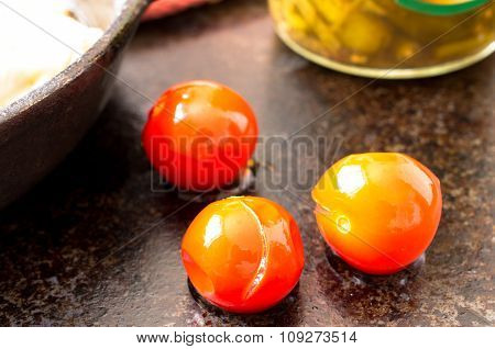 Marinated, Pickled Tomatoes