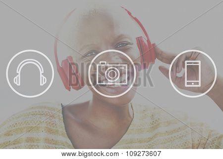 Entertainment Multimedia Content Emblem Concept