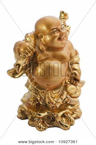 Budda Antique Symbol Isolated On White Background