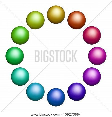 twelve colored balls