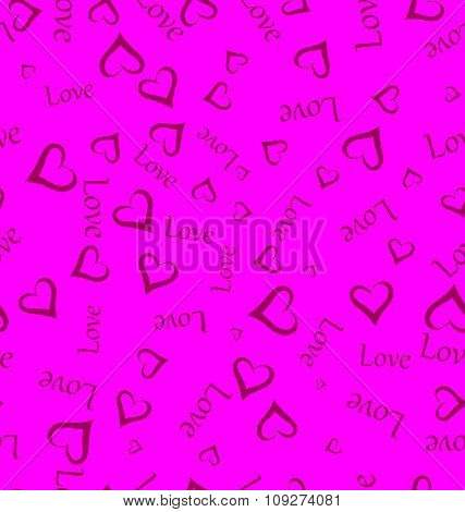 Seamless background hearts