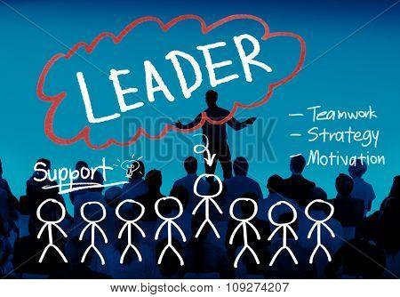 Leader Leadership Management Responsibility Vision Concept