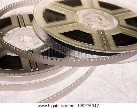film reels isolated. Old movie reels