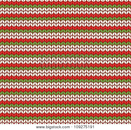 Multicolor Fun Winter Seamless Christmas Knitted Pattern