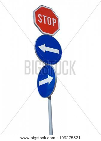 Traffic signs in confusion