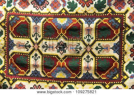 vintage ornament rug texture