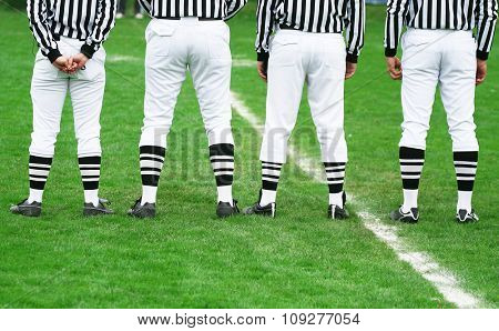 American football referee in line. American football concept