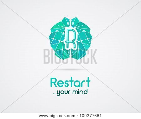 Brainstorm, brain, creation and idea logo template and elements. Restart mind, idea creation busines