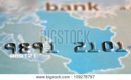 Macro shot credit card numbers. Commerce concept