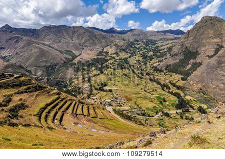 The Terraces Of Pisac, Sacred Valley, Peru