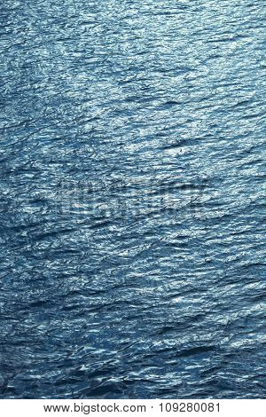 Water surface sparkles on surface. Marine ecology concept