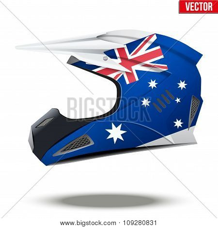 Australia Flag on Motorcycle Helmets