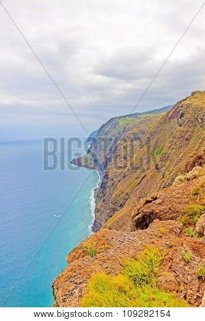 Madeira, Ponta Do Pargo - Vibrant Cliff Coast