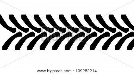 Tractor Tire Tread Marks