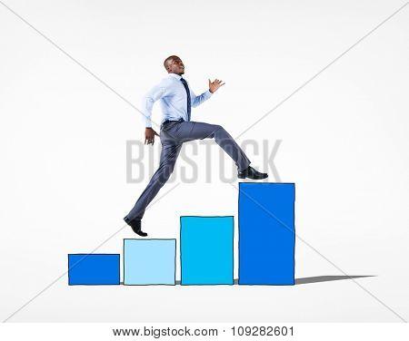Business People Growth Achievement Success Goals Concept