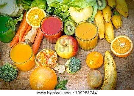 Healthy juices - refreshing beverages