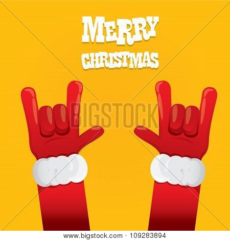 Santa Claus rock n roll icon vector illustration.