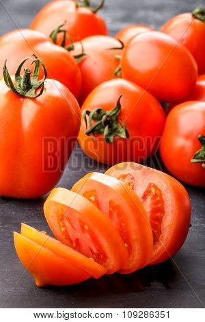 Sliced Fresh Red Tomatoes