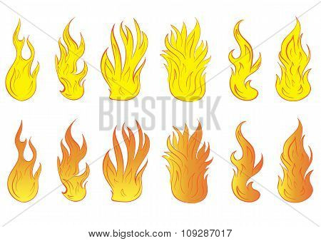 Clipart fiery forms