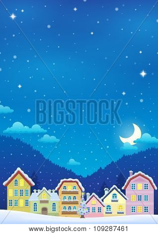 Winter theme with Christmas town image 2 - eps10 vector illustration.