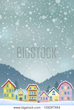 Winter theme with Christmas town image 3 - eps10 vector illustration.