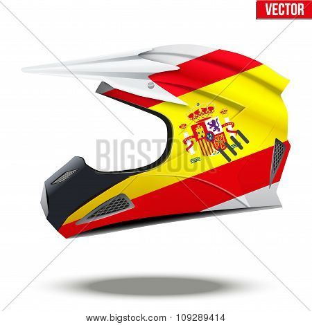 Spain Flag on Motorcycle Helmets