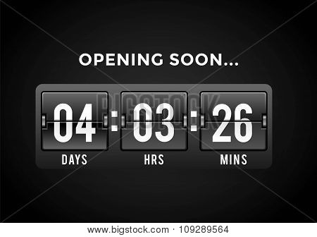 Countdown clock digits board panels timer