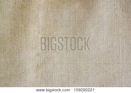 Old Canvas, Beige Fabric Texture.