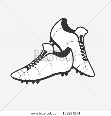 Vector a pair of soccer shoes. Football Boots icon.