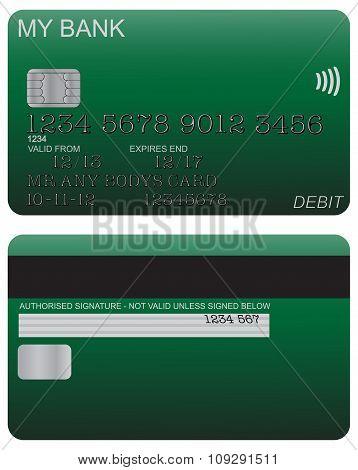 Debit Card Detail Green