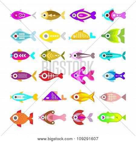 Aquarium Fish Icons