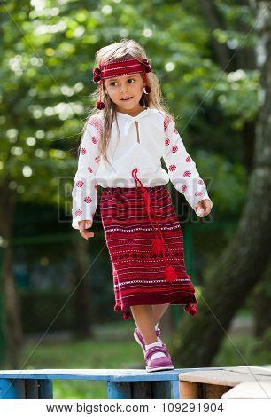 Portrait Of Ukrainian Little Girl