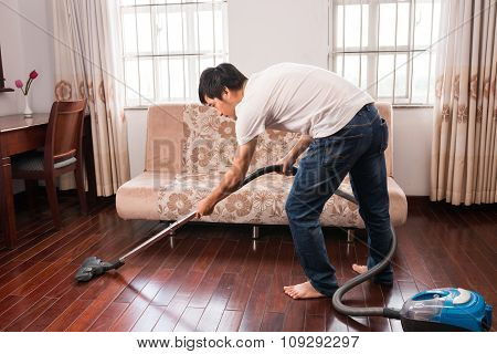 Cleaning floor