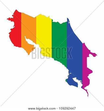 Costa Rica Gay Map