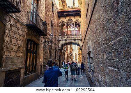 Old Town Of Barcelona, Spain