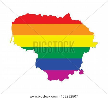 Lithuania Gay Map
