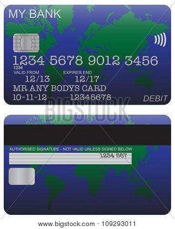 Debit Card Detail World Map