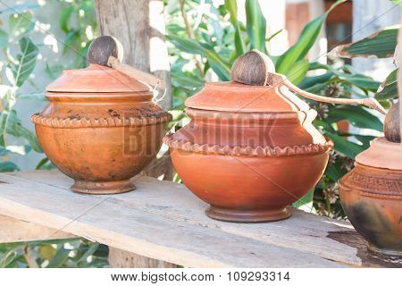 Clay Pot Filled With Water
