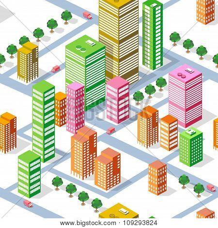 isometric seamless town