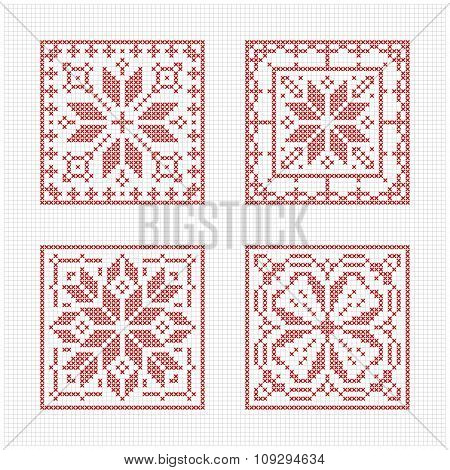 Scandinavian Style Cross Stitch Pattern