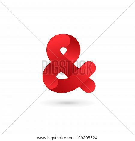 Symbol & And Ampersand Logo Icon Design Template Elements