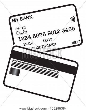 Debit Card Black And White Logo