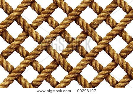 Rope Grid Pattern