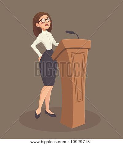Speaker Woman Illustration