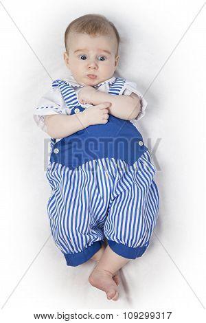 Baby Boy In A Blue Suit