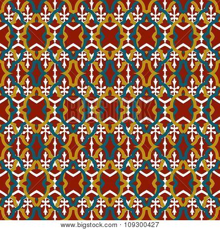 Seamless background image of vintage elegant geometry line shape pattern.