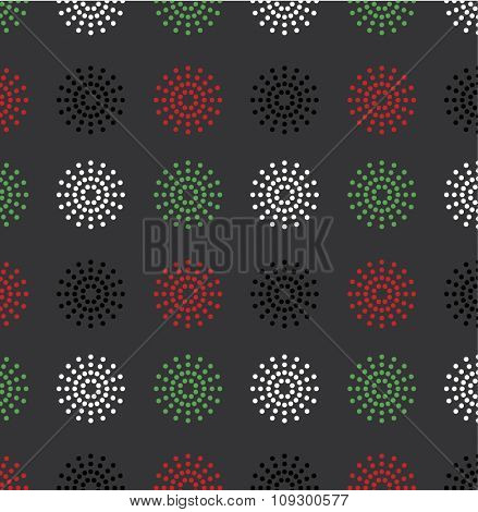 Colorful vector pattern using UAE national flag colors. UAE national day celebration background.