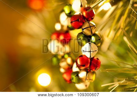 Jingle Bell Wreath Christmas Tree Decoration side view