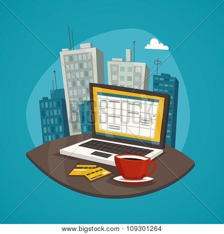 Business Workplace Design Concept Set